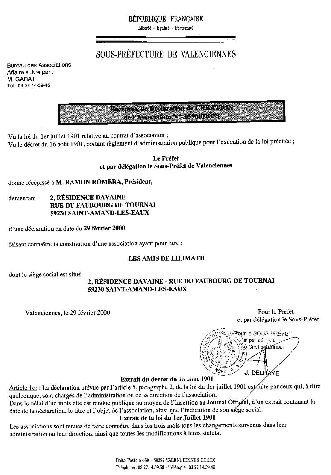 Association Loi 1901 Les Amis De Lilimath
